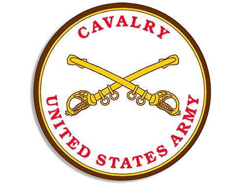 American Vinyl Round US Army Cavalry Seal Sticker (Military Insignia Logo)