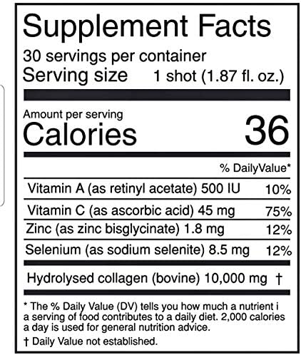 Qualinova Beauty Hydrolyzed Collagen Beauty Drink, 10 Grams per Shot, Month Supply, 30 Shot of Mixed Flavors in Each Box 3