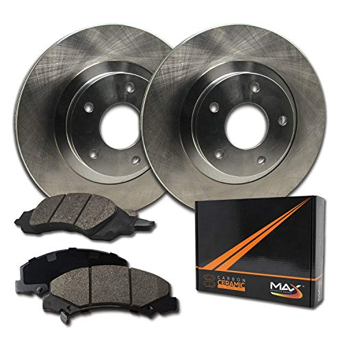 [Front] Max Brakes Premium OE Rotors with Carbon Ceramic Pads KT003641