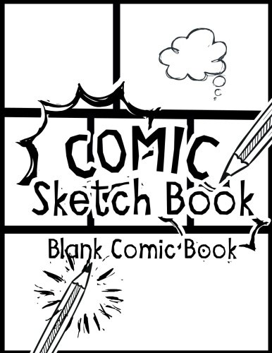 "Comic Sketch Book - Blank Comic Book: Create Your Own Drawing Cartoons and Comics (Large Print 8.5""x 11"" 120 Pages) (Drawing comics)"