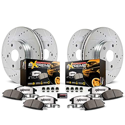 Power Stop K1868-36 Front & Rear Z36 Truck and Tow Brake Kit