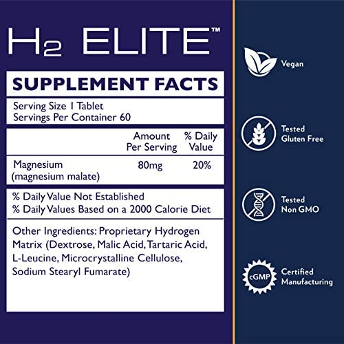 Quicksilver Scientific H2 Elite Tablets - High Dose Molecular Hydrogen Water Additive for Energy Support, Perfect for Open Containers - Antioxidant Hydrating Drink (60 Dissolving Tablets) 6