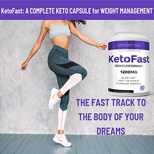 Keto Fast Diet Pills, Keto Fast Burn Weight Management Capsules - Pure Keto Supplement for Energy, Focus - Ultra Boost Exogenous Ketones for Rapid Ketosis for Men and Women - 2 Bottles 2