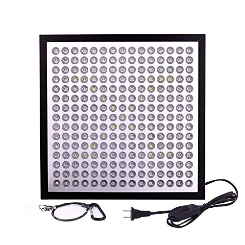 Niello LED Grow Light, Ultra-Thin & Ultra-Light 45W 225 LEDs Indoor Plants Growing Panel Lamp with 6-Band Full Spectrum Include UV IR for Germination,Vegetative, Flowering