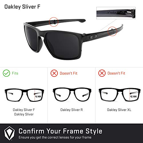 Revant Replacement Lenses for Oakley Sliver F - Compatible with Oakley Sliver F Sunglasses