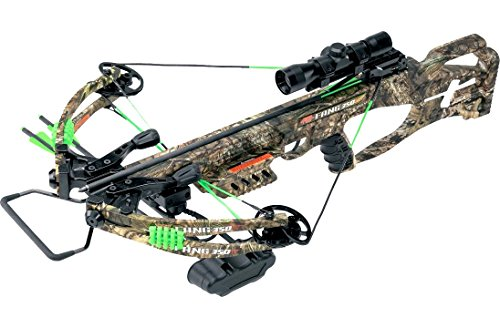 PSE Fang Series Compound Crossbow with Scope and Arrows, 2018 New and Improved Trigger! LT and XT