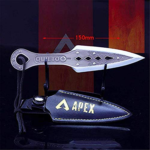 APEX Legends 1/6 Metal Wraith Kunai Knife Heirloom Dagger Toys Collection Keychain Gift Party Supplies Desk Decoration Man Backpack Pendant Gift Clothes Accessory Sets Bronze