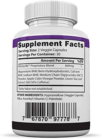 Pure Keto Fast Pills Advanced BHB Ketogenic Supplement Real Exogenous Ketones Ketosis for Men Women 60 Capsules 1 Bottle 4