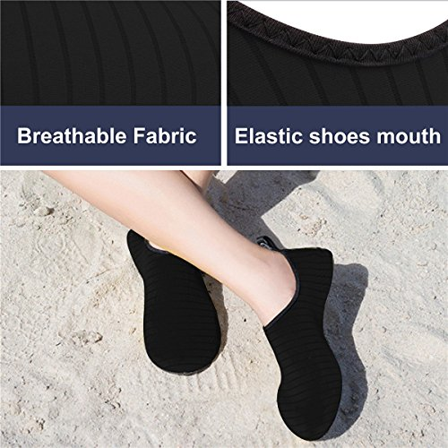 JIASUQI Summer Outdoor Beach Swim Aqua Water Shoes Socks for Women Men