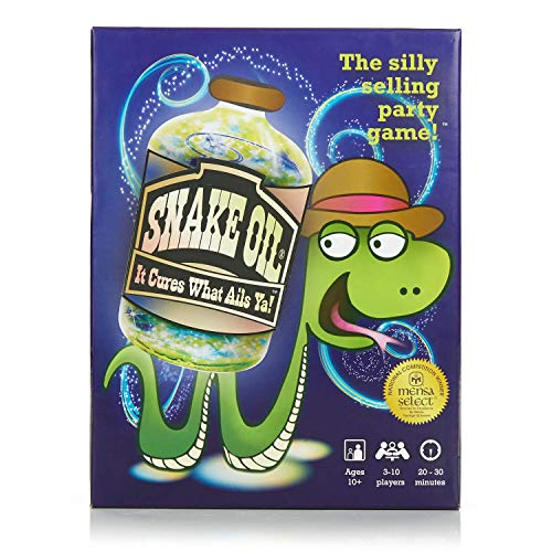 Snake Oil - The Silly Selling Party Game - Hilarious Fun for Families and Friends - New 2019 Edition