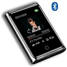 $109 » Fishar 8G/16G MP3 Player with Bluetooth 4.0, Touch Screen Portable MP4 Player with Speaker, FM Radio, Recording, HiFi Lossless Music Player for Running, Black,16g