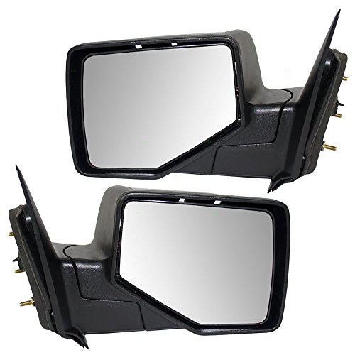 Driver and Passenger Manual Side View Mirrors Textured Base with Smooth Cover Replacement for Ford Ranger Pickup Truck 8L5Z17683BA 8L5Z17682'BA