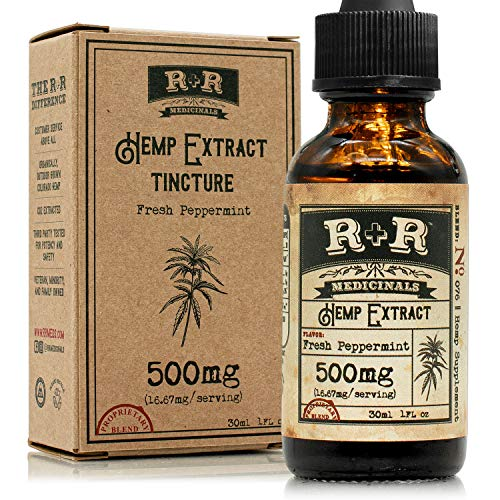 Hemp Oil for Pain Relief :: Hemp Oil Tincture :: Hemp Oil for Sleep, Stress Relief, Mood Support, Anxiety, Skin Care (500mg, 10mg per Serving x 30 Servings, 30-Day Supply) : R+R Medicinals