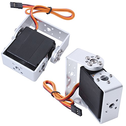 Hobbypark HDR315M 15kg Digital High Torque Robot Servo Motor 180 Degree Metal Gear with U Mouting Case (Pack of 2)