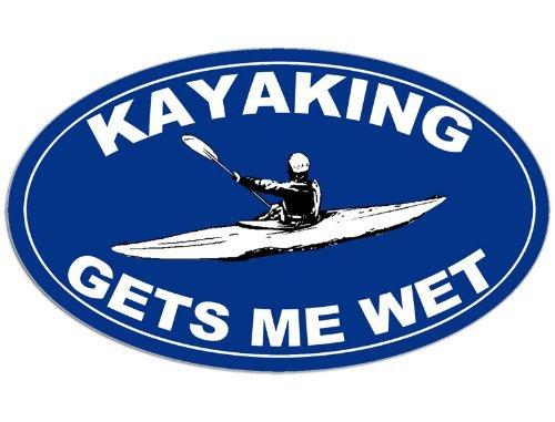 American Vinyl White Oval Life is Short Paddle Often Sticker Kayak Kayaking Canoe Hobie Oar