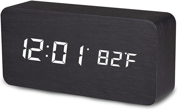 Mengshen Wooden Digital Clock – Multi-Function LED Alarm