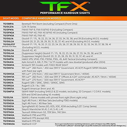 """TRUGLO TFX Tritium and Fiber-Optic Xtreme Handgun Sights for Springfield XD, XDM (excluding 5.25"""" Comp Series), and XDS"""