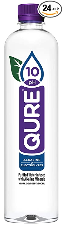 Qure Alkaline Water, 16.9 Ounce (Pack of 24)