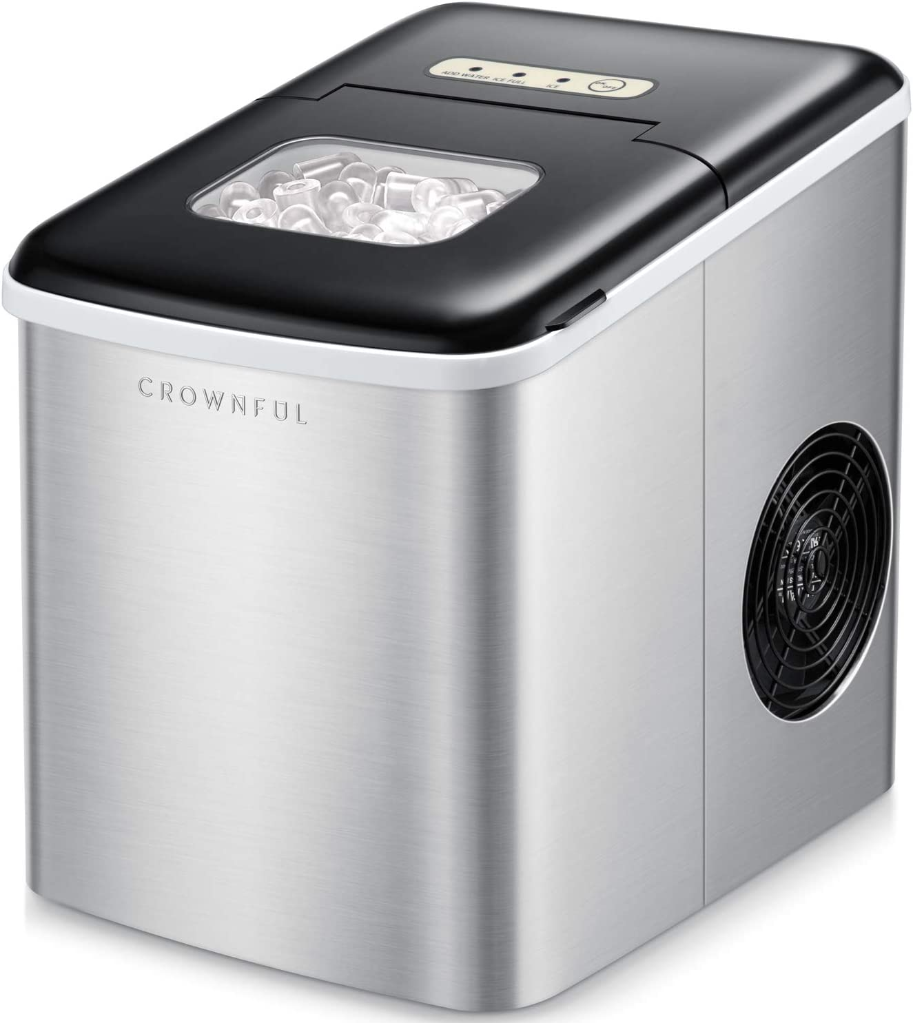 Crownful 26 lbs Portable Countertop Ice Maker