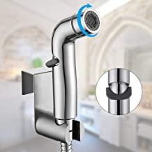 $26 » WILLSLAND Bidet Sprayer for Toilet, Handheld Bidet Toilet Sprayer Set with Dual Mode (Jet/Stream), Cloth Diaper Sprayer with Slide-and-Set Pressure Control, Chrome Bidet Toilet Attachment