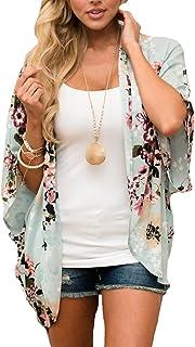Women's Summer Floral Print Kimonos Loose Half Sleeve...