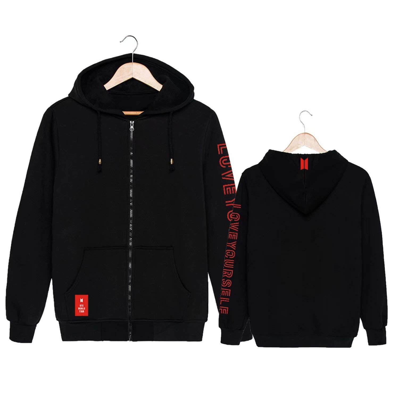 Yjyp Kpop Bts Love Yourself Hoodie Jimin Jungkook Suga V Rm Jin World Tour Zipper Jacket Buy Online In Brunei At Brunei Desertcart Com Productid 109793136