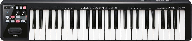 Roland Lightweight 49-Key Midi Keyboard Controller, Black