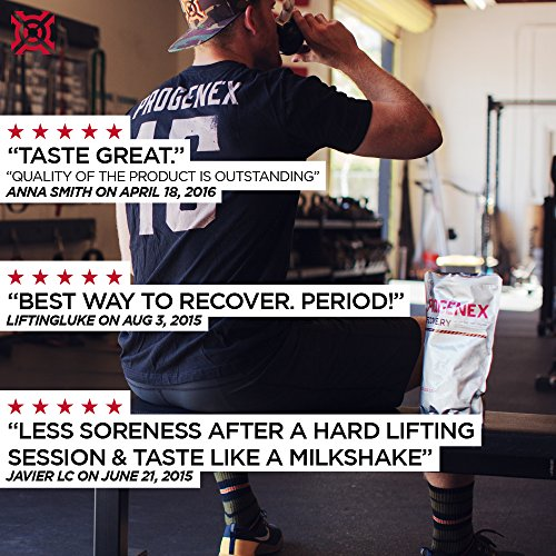 PROGENEX® Recovery   Best Post Workout Supplement   Hydrolyzed Whey Protein Shake Drink Mix   Help Sore Muscles   Tastes Great   Incredible Results   30 Servings, Belgian Chocolate