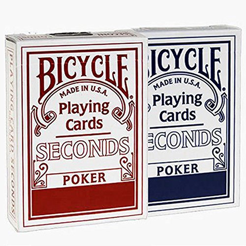 Lot 2 Bicycle Seconds Playing Cards Red and Blue