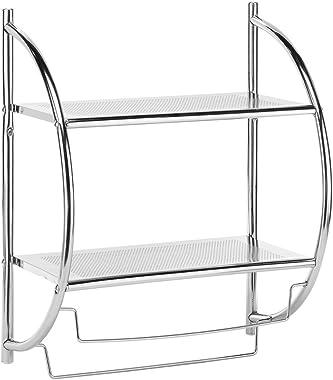 Whitmor Chrome 2-Tier Shelf and Towel Rack