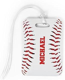 Baseball Luggage & Bag Tag   Personalized Baseball Stitches   No Personalization on Back   MEDIUM