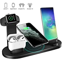 Labobbon 4 in 1 Wireless Fast Charging Station for iPhone 12/12 Mini/11 Pro Max/SE/X/XR/Xs Max 8/8 Plus,for Samsung Galaxy Series Phone