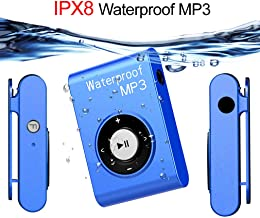 $64 » QYXM Waterproof Mp3 Player for Swimming, 8GB Underwater Music Players with Clip, Support Shuffle Mode and 15 Hours Playrback/ IPX8 Waterproof Level for Surfing/Swimming