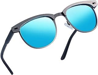 Semi Rimless Polarized Sunglasses Women Men Retro Brand...