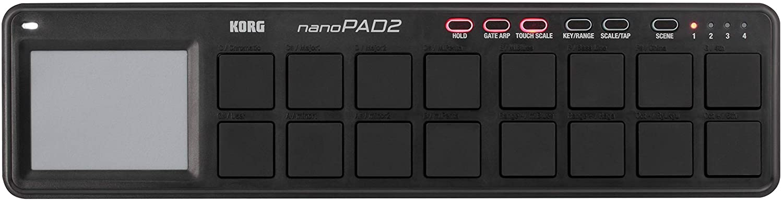 Korg Nanopad2 Slim-Line Usb Midi Pads - Black