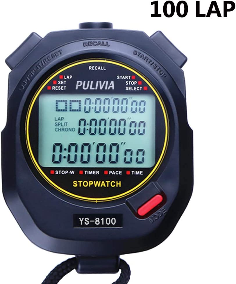 PULIVIA Sports Digital Stopwatch Timer