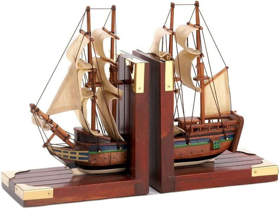 Sailing Schooner Nautical Theme Bookends
