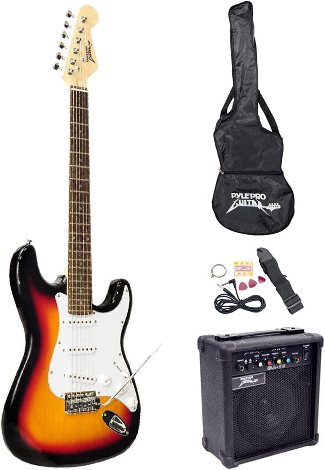 PylePro Full Size Electric Guitar Package
