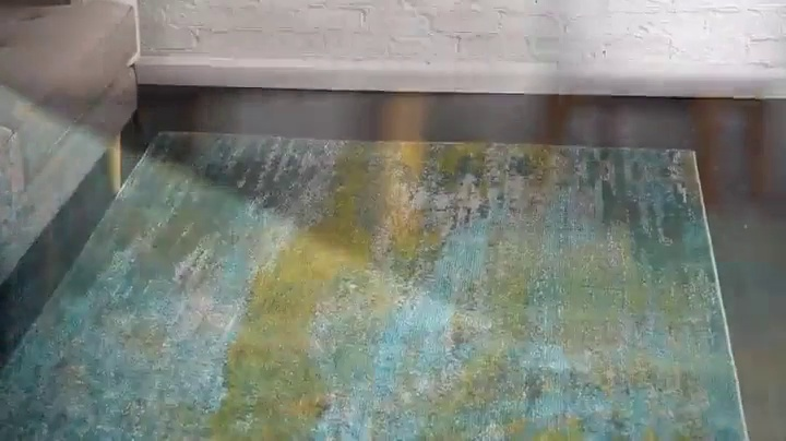 Unique Loom Jardin Collection Vibrant Abstract Turquoise Area Rug (2' 2 x 3' 0)
