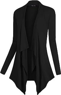 Women's Drape Front Open Cardigan Long Sleeve Irregular Hem