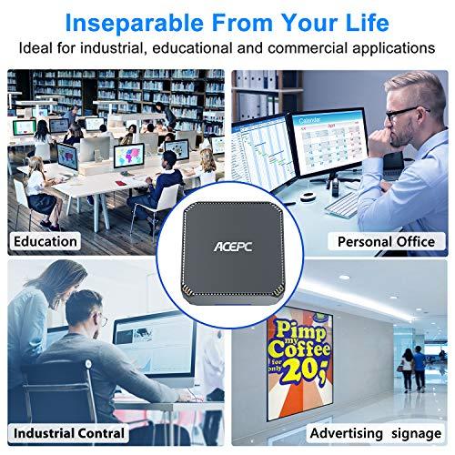 AK2 Mini PC Intel Celeron J3455,4K HD Graphics Windows 10 Mini Desktop Computer,4GB DDR3/64GB eMMC,Gigabit Ethernet,Dual Band Wi-Fi,Bluetooth 4.2
