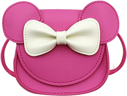 ZGMYC Cute Bowknot Crossbody Purse Cartoon Mouse Ears Shoulder Handbag Gift