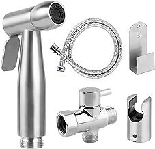 $33 » Konesky Handheld Bidet Toilet Sprayer, Premium Stainless Steel Hand Bidet Sprayer for Personal Hygiene and Potty Toilet Spray with Shower Attachment