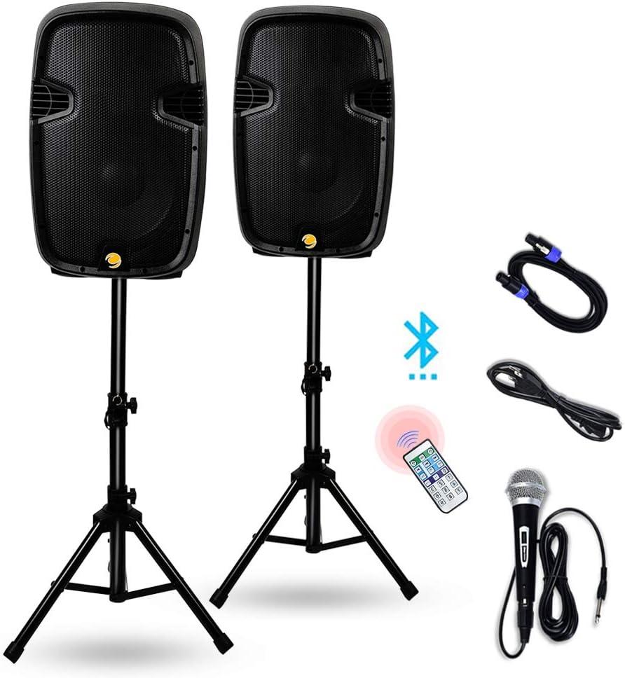 La fete Dual 2-Way 2000 Watts Powered PA Speaker System