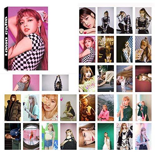 Kpop BLACKPINK Members New Album Photo Postcard Lomo Cards Set Gift for Fans, 30pcs/set (H15)