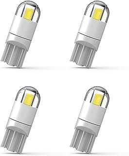 4PCS 194 LED Bulb 3030 Chipset 2SMD T10 194 168 W5W LED Wedge Light Bulb 1.5W 12V License Plate Light Courtesy Step Light Trunk Lamp Clearance Lights