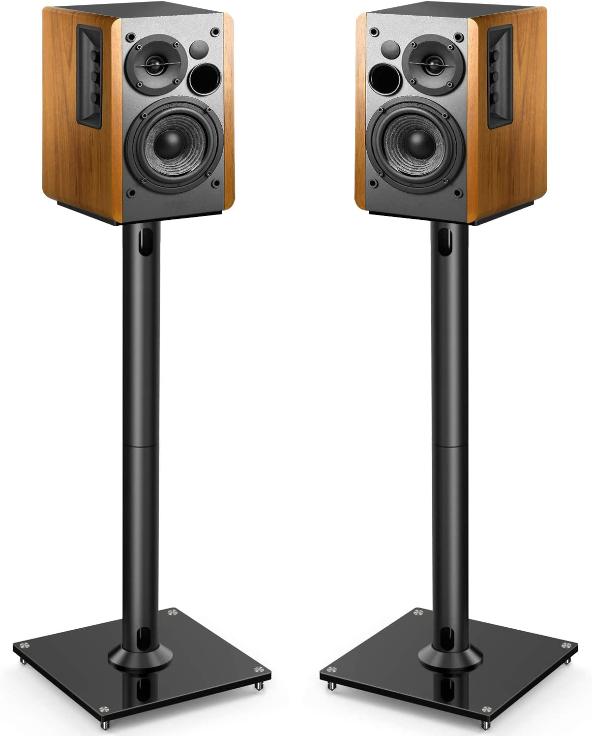 PERLESMITH Universal Floor Speaker Stands 26 Inch for Surround Sound and Bookshelf Speakers