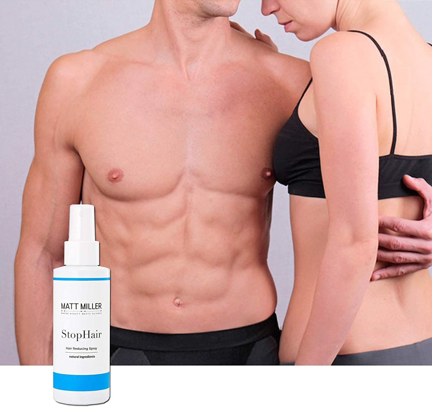 100% Natural Hair Growth Inhibitor Permanent Hair Removal Remover Hair Inhibiting and Reducing to St