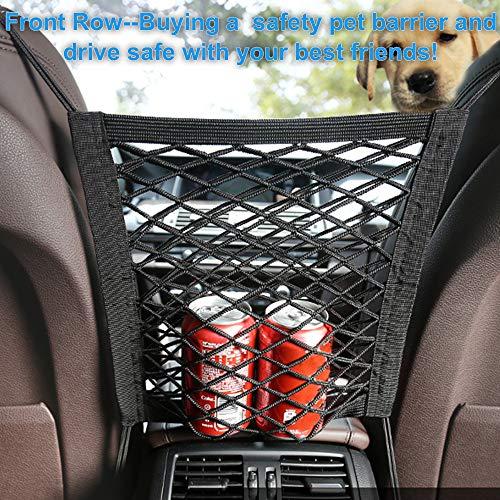 Etenli Car Dog Barrier Backseat, Premium Pet Dog Fences Car Seat Mesh Obstacle, Oxford Cloth Dog Backseat Barrier Adjustable Divider to Keep Punny Driver Safety, Easy Install for Car, SUV, Truck