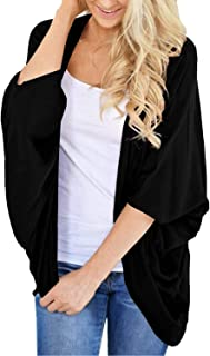 Lightweight Summer Cardigans for Women Solid Color Cotton...
